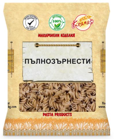 Pasta from wholegrain wheat flour