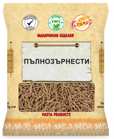 Vermicelli from whole grain wheat flour