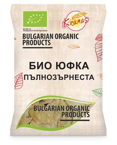 Bio noodles from whole grain wheat flour