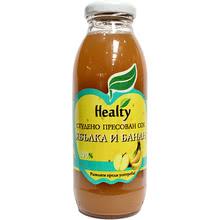 """Сок """"Healty"""" ябълка и банан"""