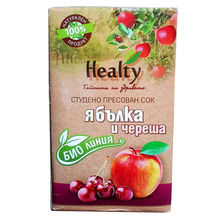 "Bio juice ""Healty"" apple and cherry"