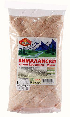 Хималайски соли фини кристали 500 гр.