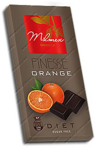 """Dark chocolate diet """"FINESSE"""" Orange 80g"""