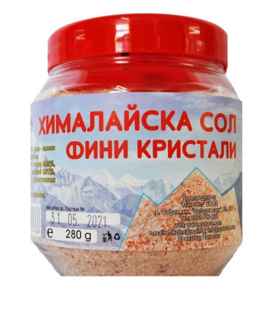 Хималайска сол финни кристали в буркан 280 гр. - Серия Дълголетие