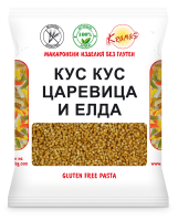 Cous-Cous from corn and buckwheat flour