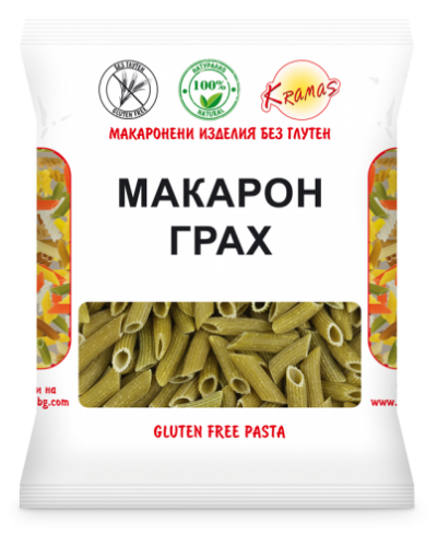 Macaroni from peas flour