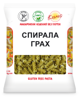 Pasta from peas flour