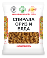 Pasta from rice and buckwheat flour